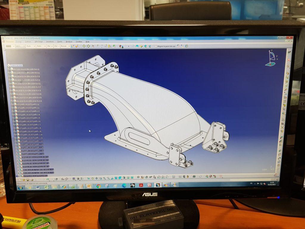 Coaéro - Prototypage 3d pour pièce tôlerie aéronautique